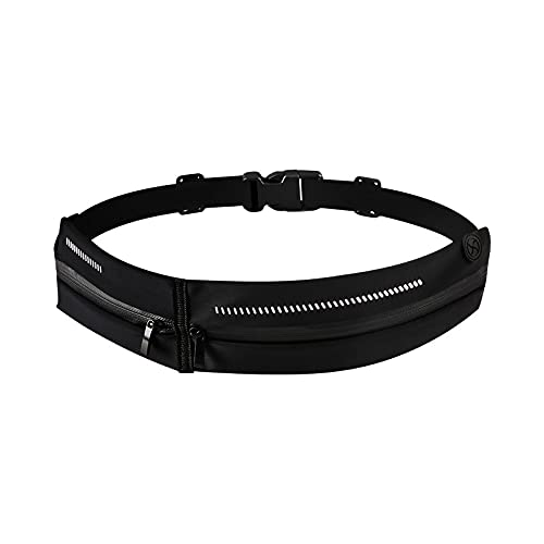 QIANJINGCQ Waterproof and breathable outdoor sports belt bag Lycra high stretch mobile phone bag running fitness sports storage belt