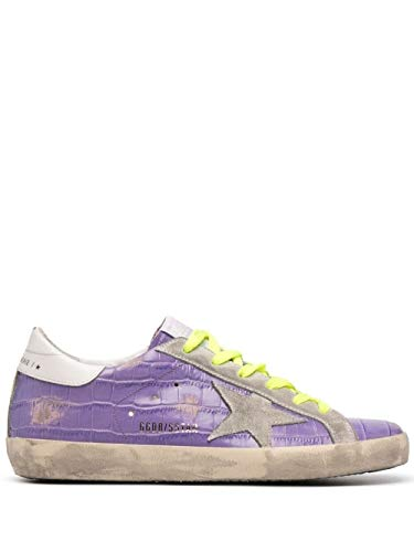 Golden Goose Luxury Fashion Donna GWF00101F00122945329 Viola Pelle Sneakers | Stagione Permanente
