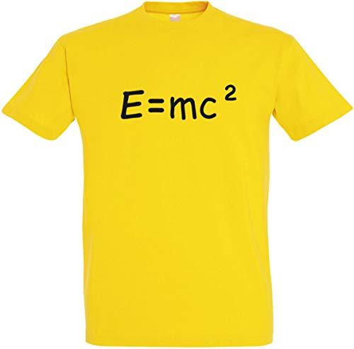 Herren T-Shirt E=mc² S bis 5XL (L, Gelb)