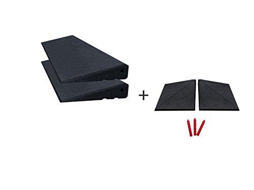 RO-FLEX Rampes de trottoir, kit professionnel 2000/65 mm (noir)