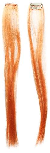 Generique - 350188 - Extension 2 Mèches Longues Orange Fluo