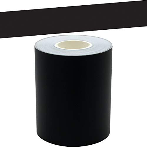 Black Straight Rolled Border Trim