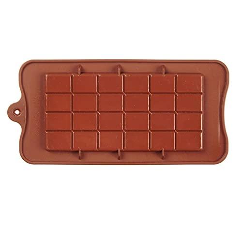 LDGGS Molde de silicona antiadherente para chocolate y barra de energía, molde de chocolate cuadrado para chocolate