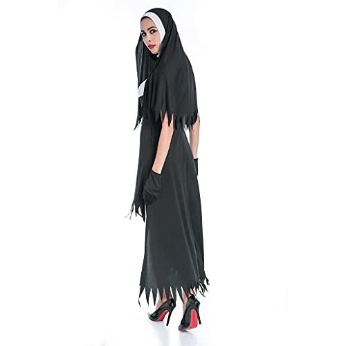 WLN Disfraz de anime para Halloween, fiesta de vampiro, uniforme de juego europeo y americano, disfraz de monja, adecuado para Halloween, cumpleaños de Navidad (tamaño: L)