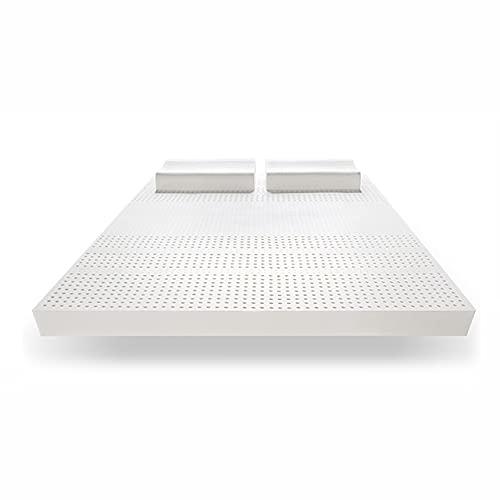 Colchón de látex natural puro – Arroz blanco, 200 x 180 x 15 cm