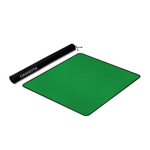 Mahjong Mat - Plusvivo Anti Slip and Noise Reduction Table Cover for Mahjong Paigow Poker Dominos 32.6' x 32.6'(83cm x 83cm) Green