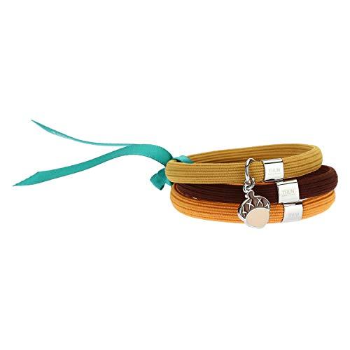 THUN ® - Bracciale elastico colorato Impulse con ghianda - 16 cm