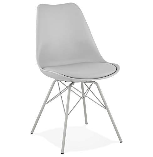 Alterego Chaise Design 'Byblos' Grise Style Industriel