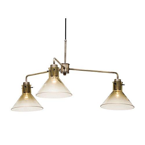 ペンダントライト 3灯 LED電球付属 Horatio 3 - ホラティオ3 - アンバー 4.5畳~6畳 LT-2001AM インターフォルム(INTERFORM)