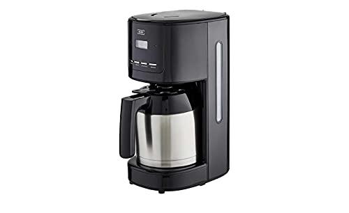 KHG Thermo-Kaffeeautomat Schwarz Kunststoff 17,5cm B x 36,5cm H Thermokanne aus Edelstahl, Farbe-Dekor:Schwarz-Edelstahl