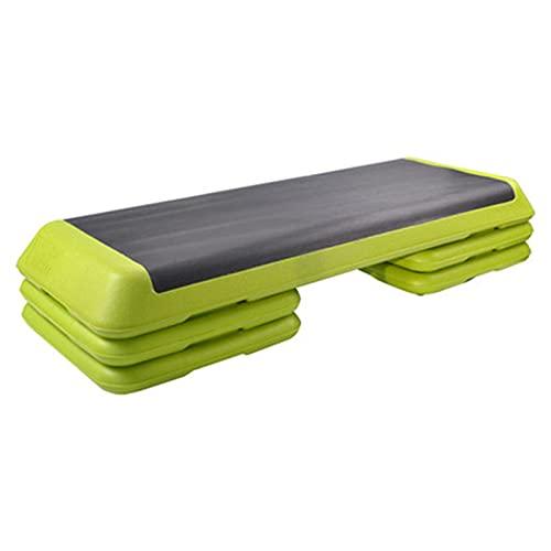 Goodvk Paso aeróbico Fitness Pedal Adelgazar Pasos de Ejercicio Home Vitality Gym Aerobic Foot Rhythmic Gimnasia Ejercicio en Cualquier Momento (Color : Verde, Size : 110x42x24cm)