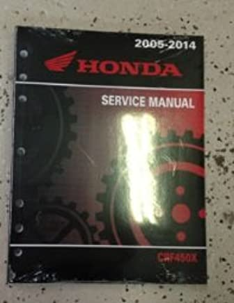 61mey06 2005-2013 crf450x honda motorcycle service manual: by.