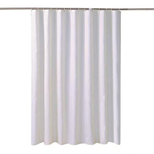 DaTun Reinweißer Duschvorhang verdickt &urchlässiges Tuch Uni Duschvorhang Polyestermaterial wasserdicht 150 * 200 Reinweiß 100g