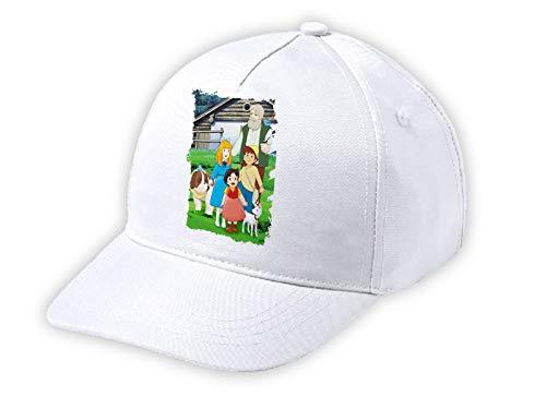MERCHANDMANIA Kinder-Kappe, weiß, Serie Antigua de Heidi Anime weiß Kid Cap