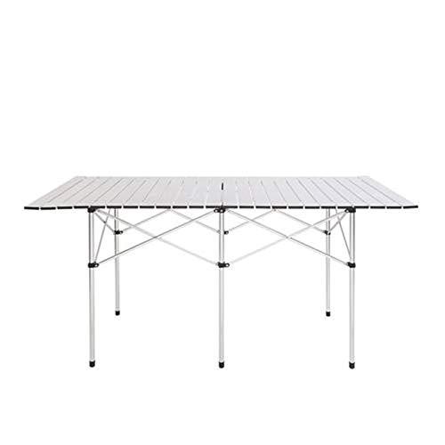 Klappbarer Tisch für Camping, Picknick, Garten, Catering, Party, Essen, Grillen, Messestand, Heimbüro, für drinnen und draußen