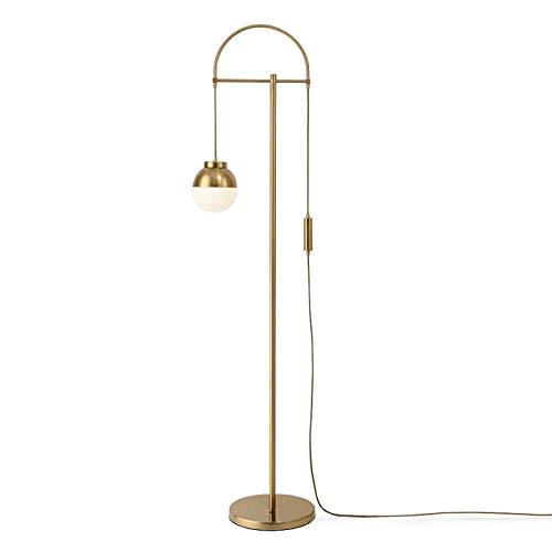 DSM Goldene stehleuchte Fernbedienung Wohnzimmer Schlafzimmer kreative helle Luxus net rot mädchen Sofa stehleuchte 160 cm