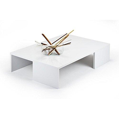 Mobili Fiver, Rachele Tavolino da Salotto, Bianco Lucido, 90 x 60 x 21 cm, Nobilitato, Made in Italy, Disponibile in Vari Colori