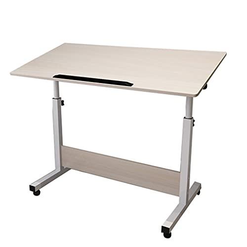 WERTYG Mesa de ordenador portátil de 80 x 40 cm, escritorio de ordenador portátil, ángulo de altura ajustable, mesa auxiliar portátil, mesa plegable (tamaño: 80 x 40)