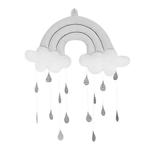 SparY Anhänger Spielzeug Süß Stoff Dekoration Requisiten Om Baby Wiege Zubehör Wolke Regentropfen Geschenke Kinderzimmer Mobile Hängende Zelt Fotografie (Pink) - grau, Free Size