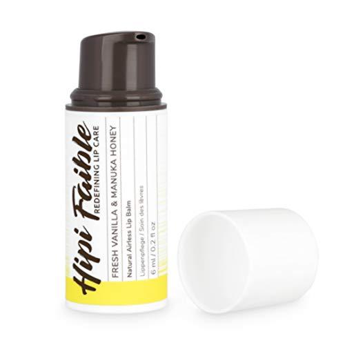 Hipi Faible - Naturkosmetik Lippenpflege im Pump-Spender - FRESH VANILLA & MANUKA HONEY - 100% natürlich - 6 ml