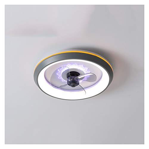 Xu Yuan Jia-Shop Lámpara de Techo LED Luz Moderna de Techo con Ventiladores de Dormitorio Restaurante Hogar Invisible Fan Light Simple Modern Niños Fan Light Fan Lights luz de Techo (Color : Gray)