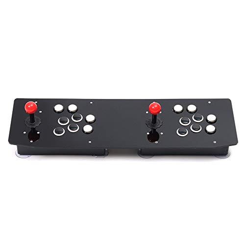 Diseño ergonómico Doble Arcade Stick Videojuego Joystick Controller Gamepad para PC con Windows Disfruta de un divertido juego, negro + blanco