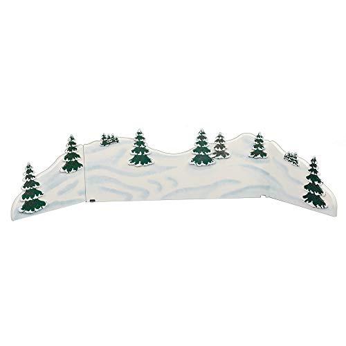 Hubrig Winterlandschaft Diorama 115x24cm Erzgebirge