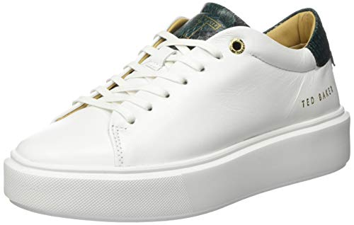 Ted Baker Women's Fashion-Sneakers, White, 9.5