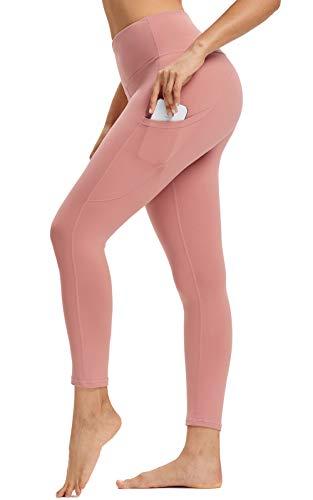 WOWENY Pantalón Deportivo de Mujer Cintura Alta Leggings Mallas para Running Training Fitness Estiramiento Yoga y Pilates