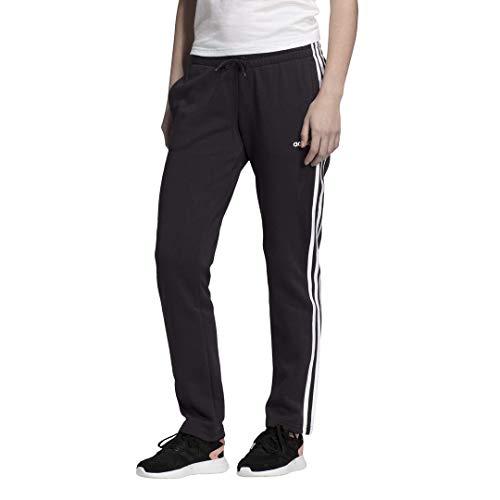 adidas Damen Essentials 3-Streifen Fleece Jogginghose, Damen, Unterhose, Essentials 3-Stripes Fleece Pants, schwarz/weiß, XX-Small