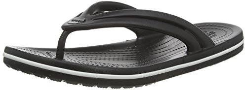 Crocs Damen Crocband Flip W Zehentrenner, Black, 37/38 EU