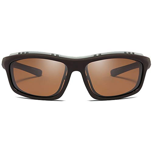 WHSS Gafas de sol de plástico polarizadas a prueba de viento para hombres y mujeres con el mismo párrafo nuevo gafas de sol de equitación (color: marrón)