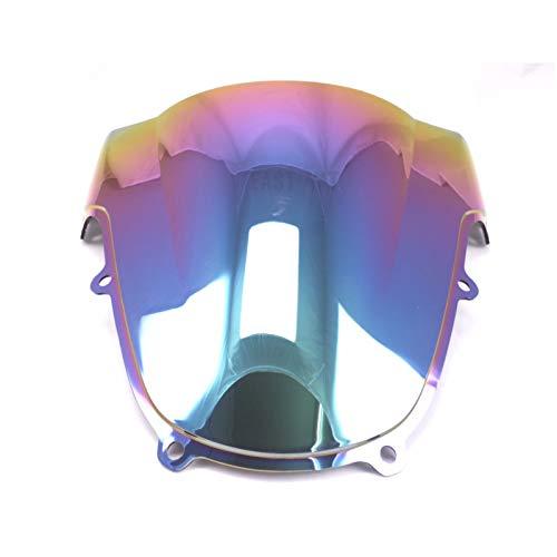 Parabrisas de Motocicletas Parabrisas de Doble Burbuja para Motocicleta para S&uzuki GSXR 600 GSXR 750 GSXR 1000 K1 K2 2000 2001 2002 2003 Deflector de Viento (Color : E)