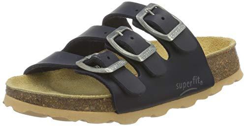 Superfit Jungen FUSSBETTPANTOFFEL Pantoffeln, Blau (OCEAN 80), 35 EU