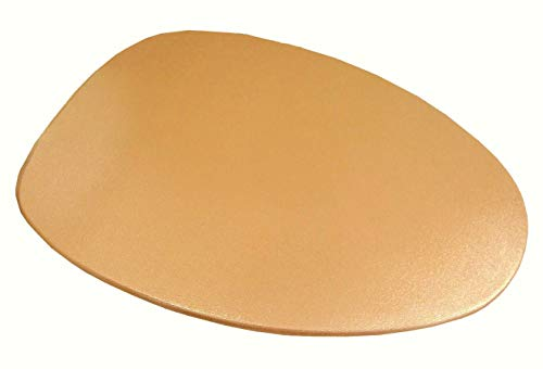 Special SHINY Edition of Fabric Cover for a lid toilet SEAT for Round & Elongated Models - HandMade in USA (Gold)