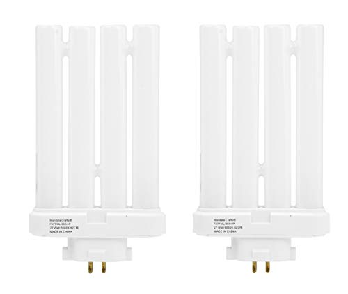 FML27 27-Watt 6500 K Compact Fluorescent Light Bulb with Quad Tubes, 4-pin, GX10q-4 Base; 2 Pack; by Mandala Crafts