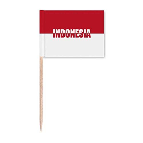 Indonesien Länderflagge Name Zahnstocher Flaggen Marker Topper Party Dekoration