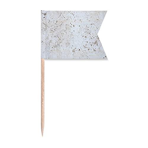 Zahnstocher-Flaggen mit rauer Oberfläche, Weiß