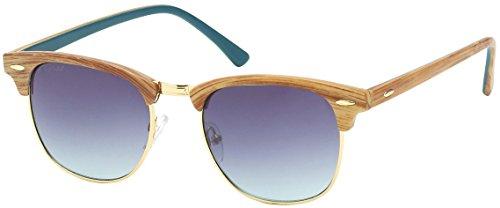 SQUAD - Gafas de sol AS11027D (C3) Gafas de sol varillas de imitación a madera