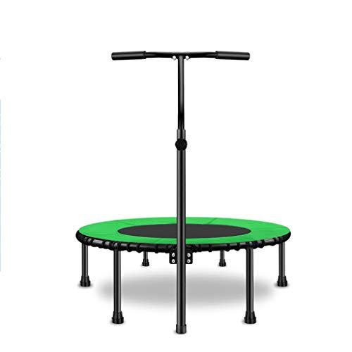 ZXQZ Trampolin, Trampolin, 100 cm Traglast 200 kg, für den Innenbereich, leise, Fitness-Trampolin, Aerobic, Training, Diät, Fitness Trampolin, grün, 2