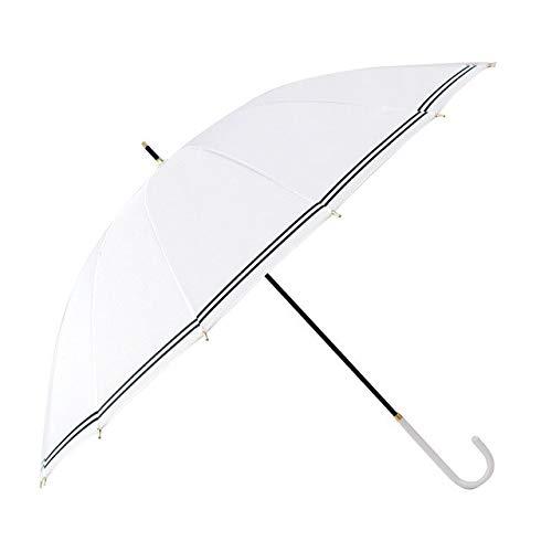 NJSDDB paraplu Tiohoh 16 Ribs Lange Paraplu Regen Vrouwen Winddichte Sterke Golf Paraguas Paraguas Navy Wit Reizen Grote Paraplu's, Kleur: wit