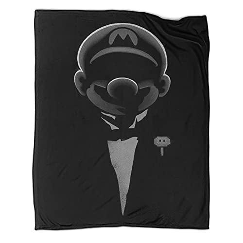 DRAGON VINES Manta fresca Super Mario Bros Mario Luigi Estudiante manta regalos para niños y mujeres 70 x 90 pulgadas (180 x 230 cm)