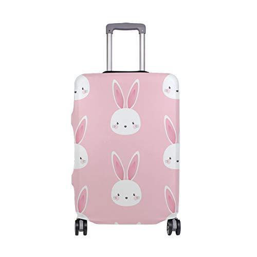 Orediy - Copertura elastica per bagagli da viaggio, motivo: coniglietto Kawaii, per valigia (senza valigia), S M L XL, Multi (Multicolore) - suitcasecover