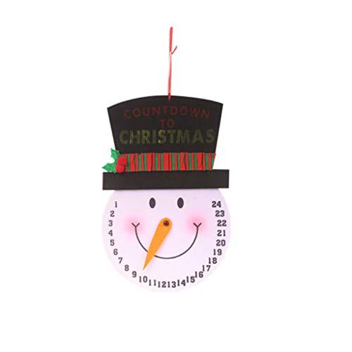 Rongzou Kalender, Kerstboom opknoping muur klok Sneeuwman Kerstman Ontwerp Kerstmis Ornamenten Vakantie Party Gift