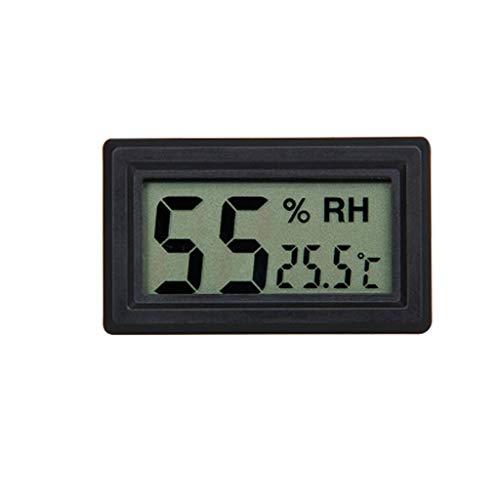 BWCGA Mini Termometro Digitale igrometro strumento di visualizzazione Indoor un sacco di temperatura e umidità (Color : Black)