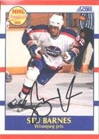 Stu Barnes Winnipeg Jets 1990 Score Prospect Autographed Card - Rookie Card. This item comes with a certificate of authenticity from Autograph-Sports. Autographed