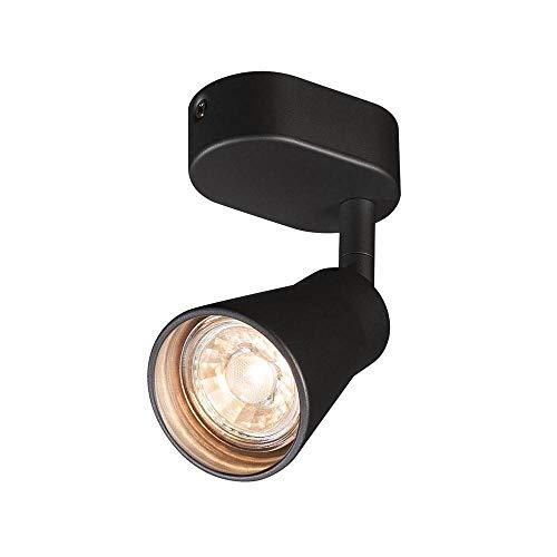 SLV AVO CW Single, Indoor Wand- und Deckenaufbauleuchte, QPAR51, schwarz, max. 50W Leuchte Metall 0 W