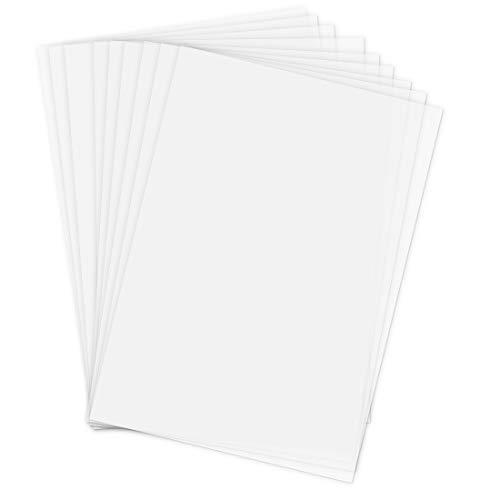 Papel Calco Transparente Blanco, Papel para Calcar, 40 Hojas Blanca Origami Papel, Papel Blanco Manualidades, Cartulinas de Origami para Niños, Papel de Seda Blanco Manualidades