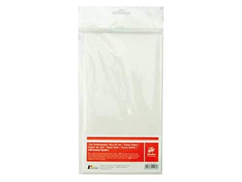 DTM - Loisirs créatifs - Papier de soie - Blanche - Pochette de 10 feuilles 50 x 70 cm