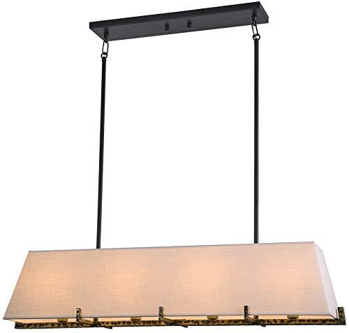 Cosmolight Stockholm P04643BK AU - Lámpara de techo (4 bombillas de 40 W, E14, IP20)